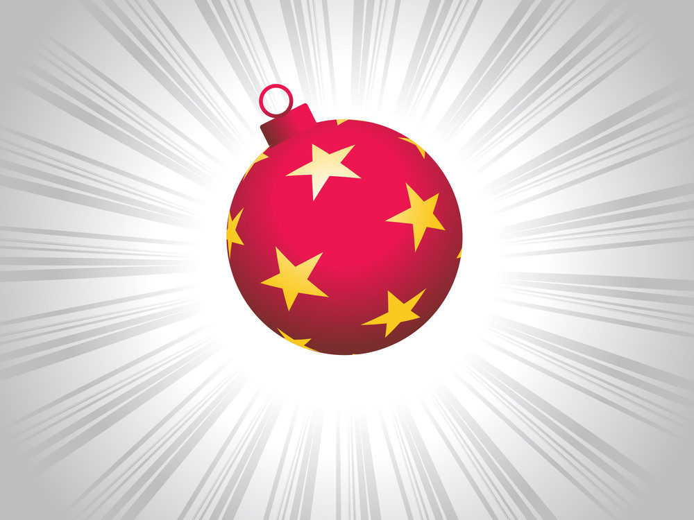 Artistic Red Ball With Star Pattern