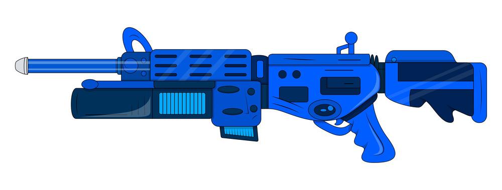 Artistic Shooting Gun Design Element