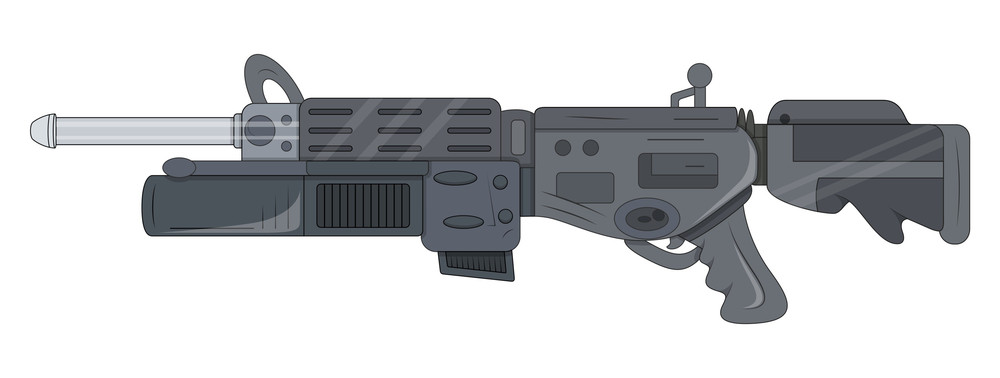 Artistic Shooting Gun Vector Design