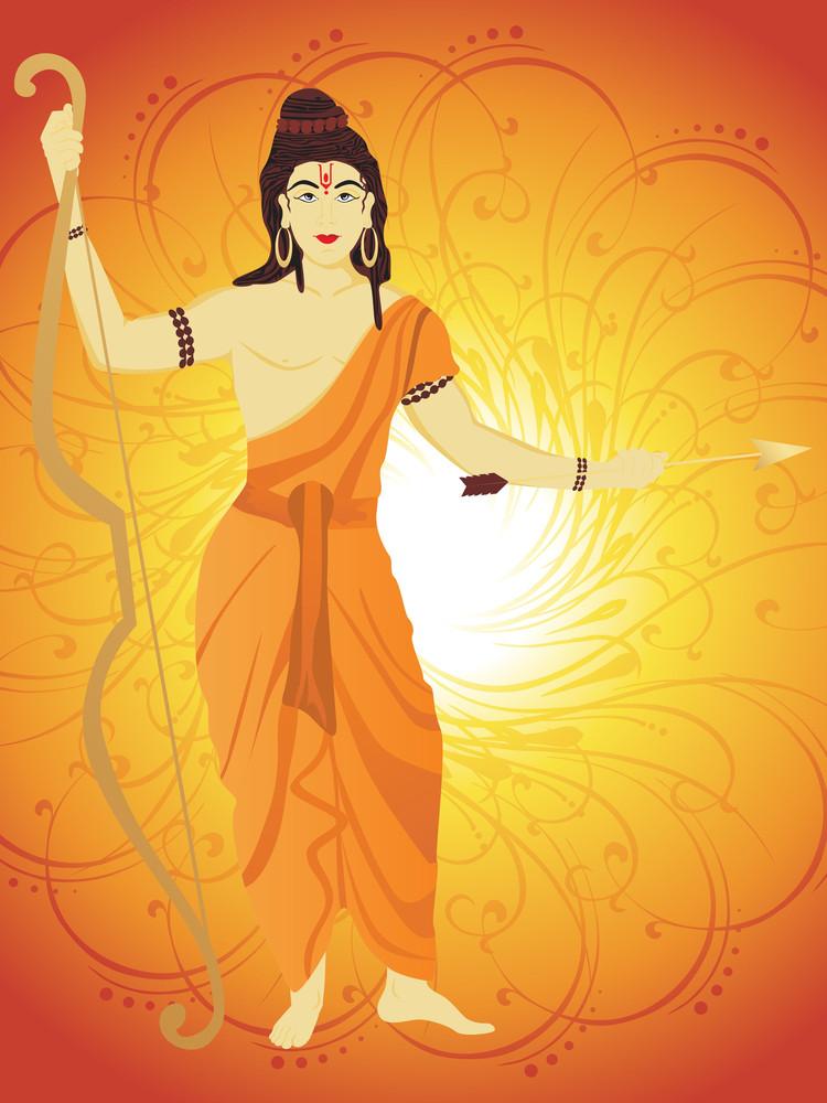 Artistic Swirl Background With Rama