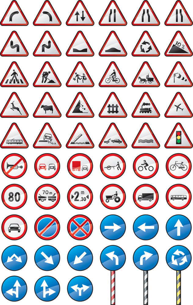 Assorted Traffic Signs