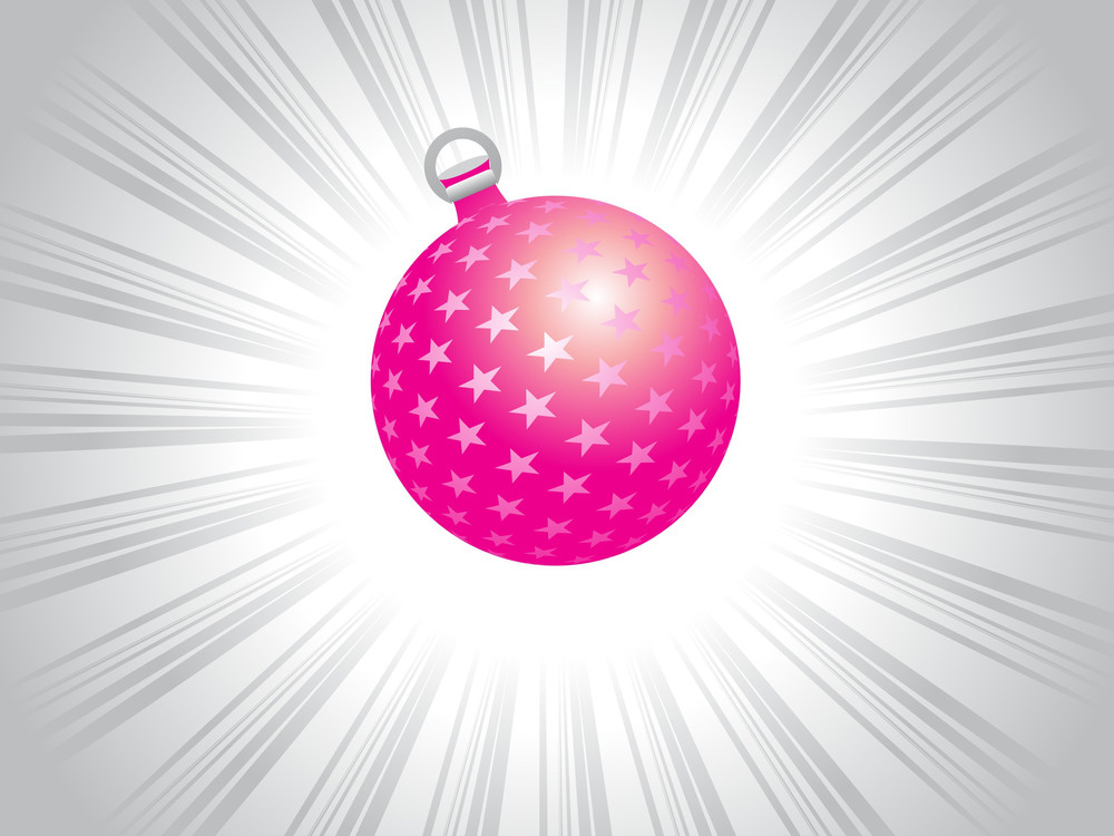 Astract Pink Star Ball