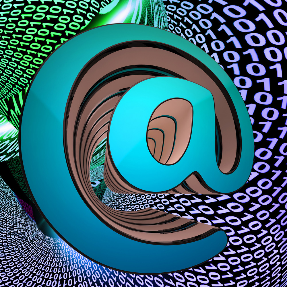 At-symbol Shows World Telecommunications Mail Envelope