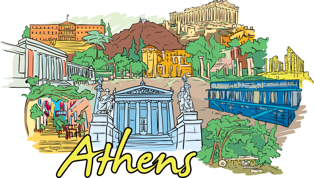 Athens Vector Doodle