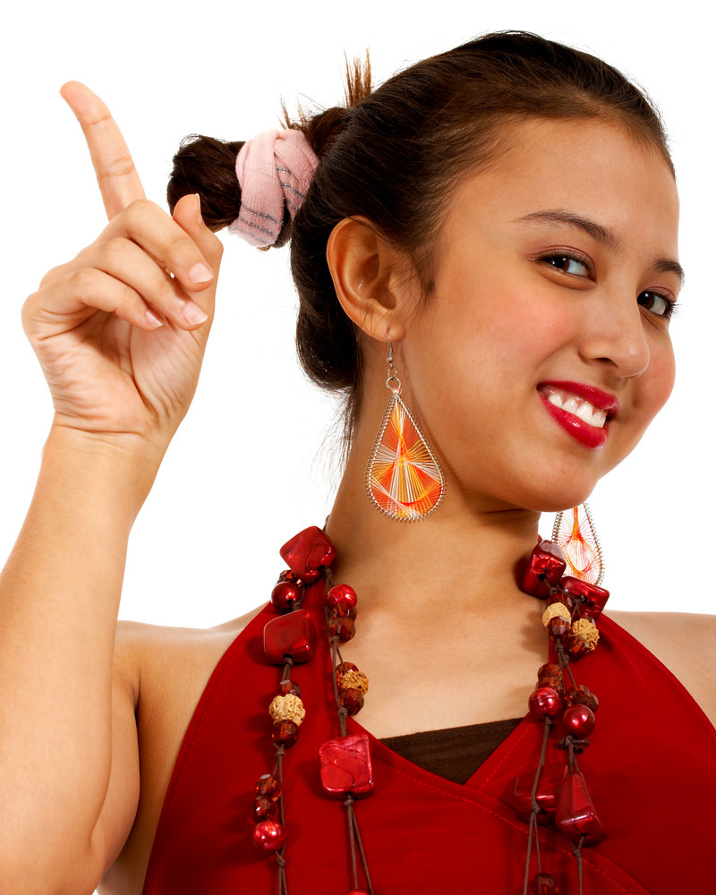 Attractive Asian Girl Dancing