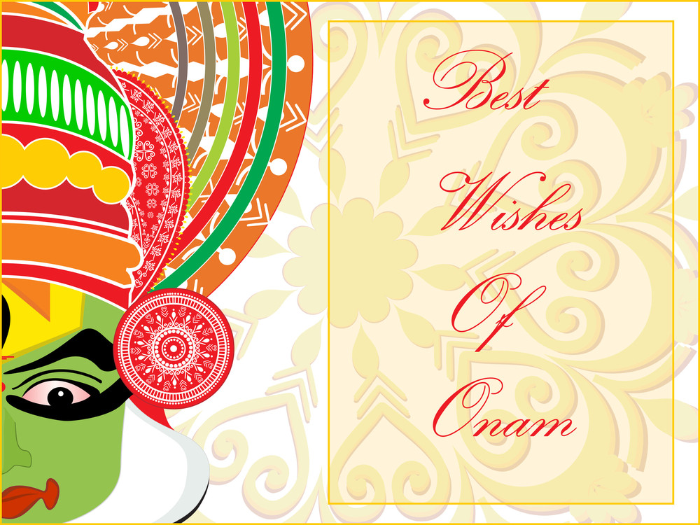 Attractive Pattern Card For Onam Celebration