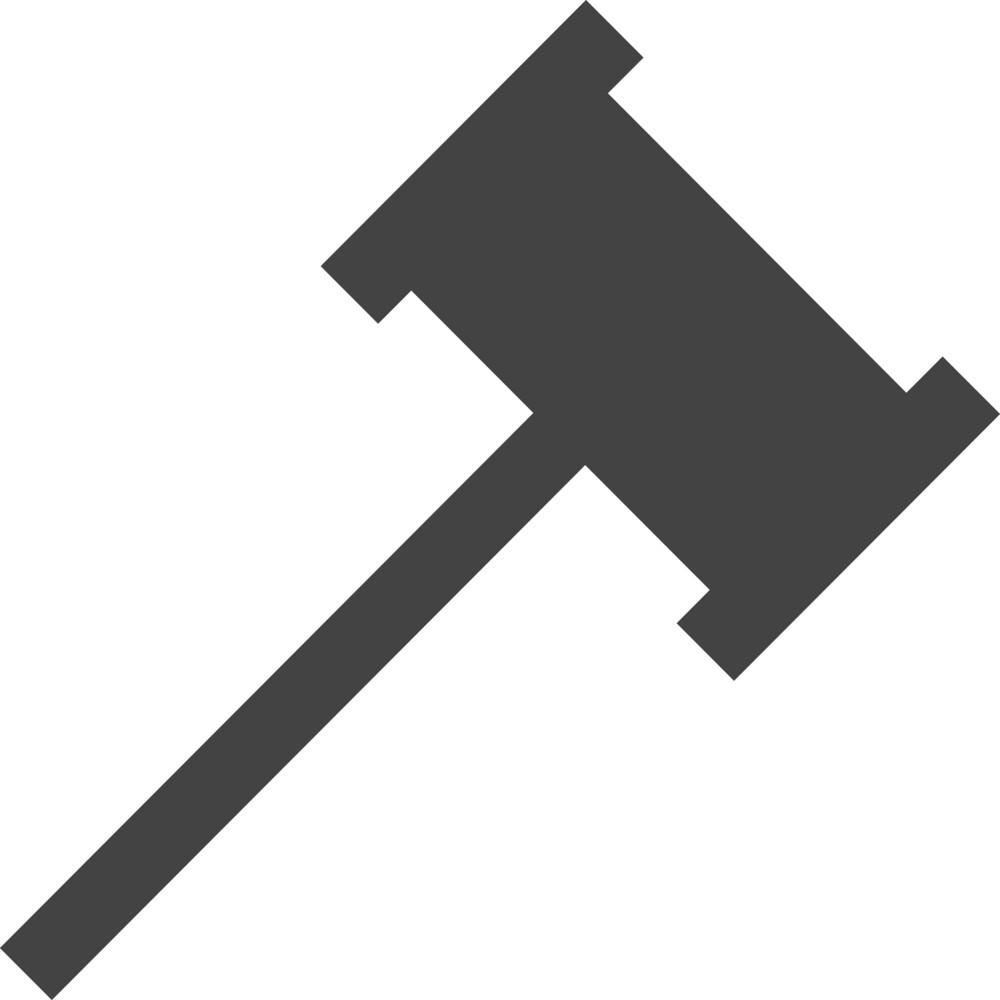 Auction Glyph Icon