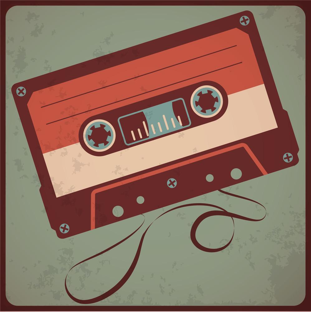 Audio Cassete. Vector.