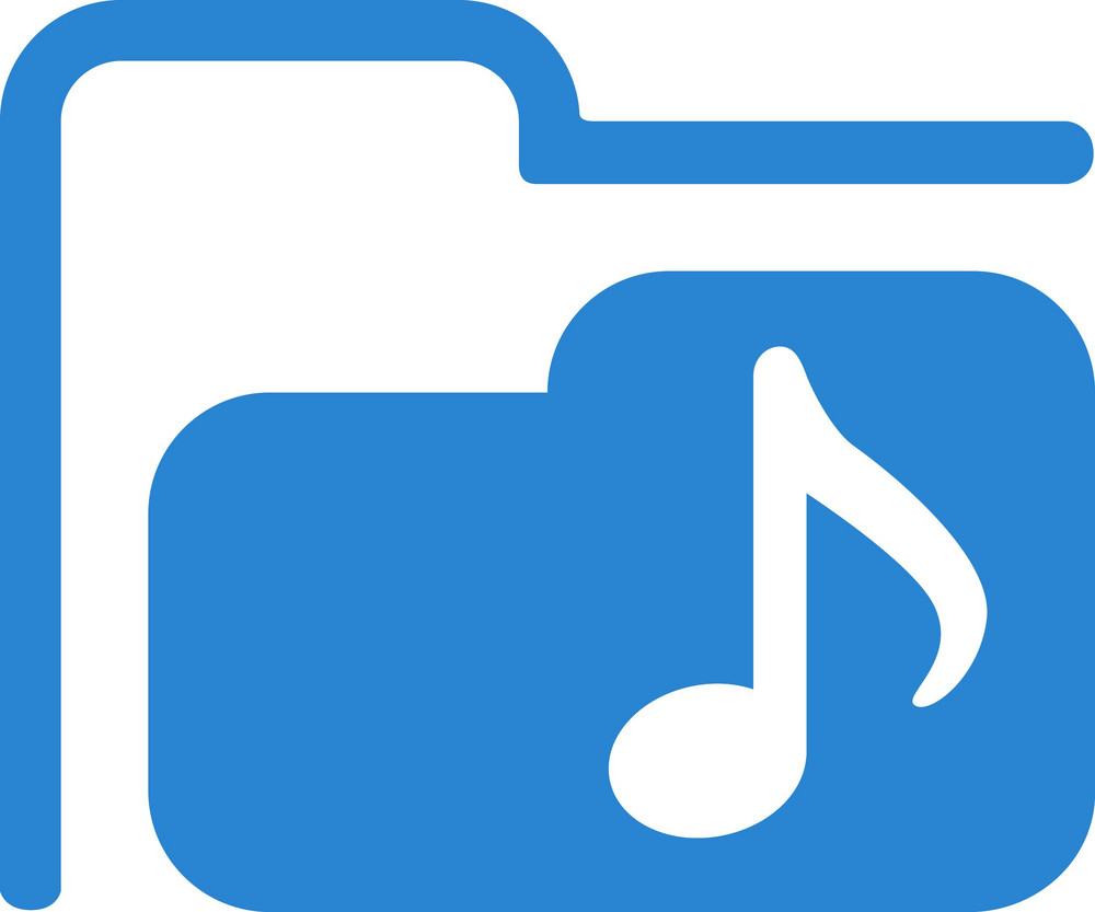 Audio Folder Simplicity Icon
