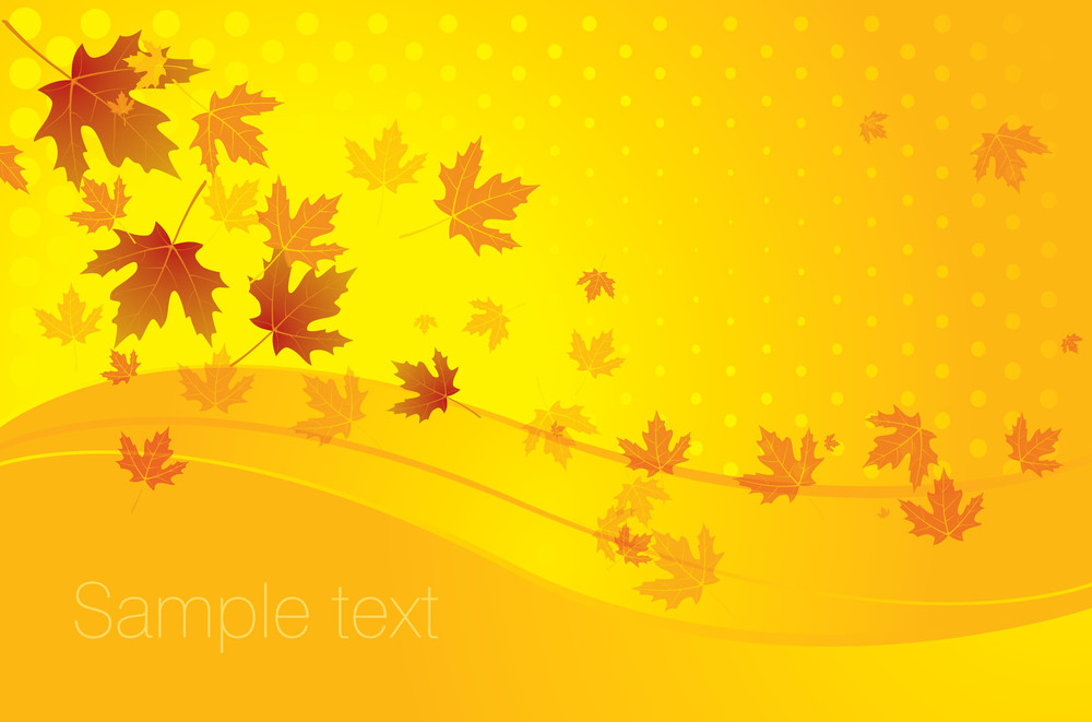 Autumn Background. Vector.