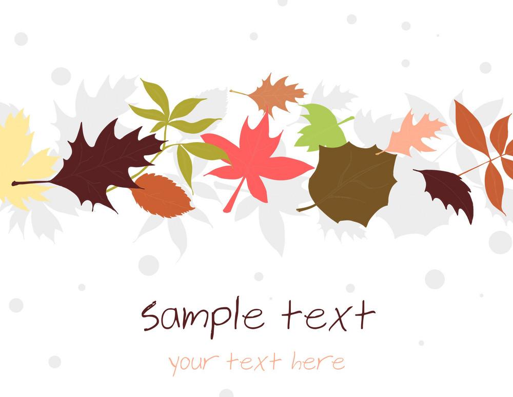 Autumn Floral Background Vector Illustration