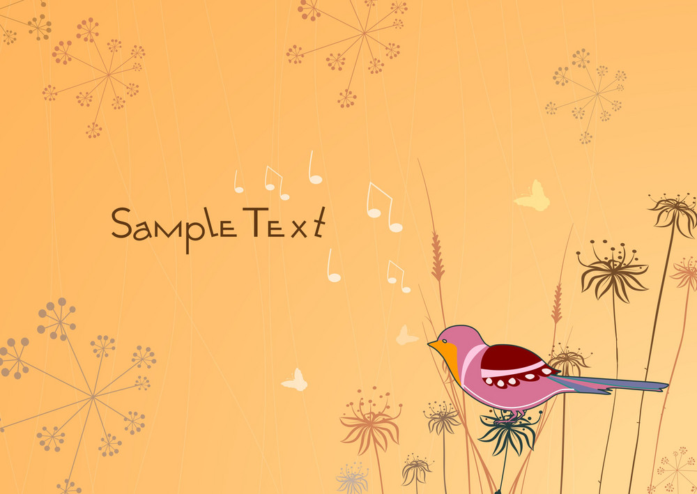 Autumn Floral Background Vector Illustration