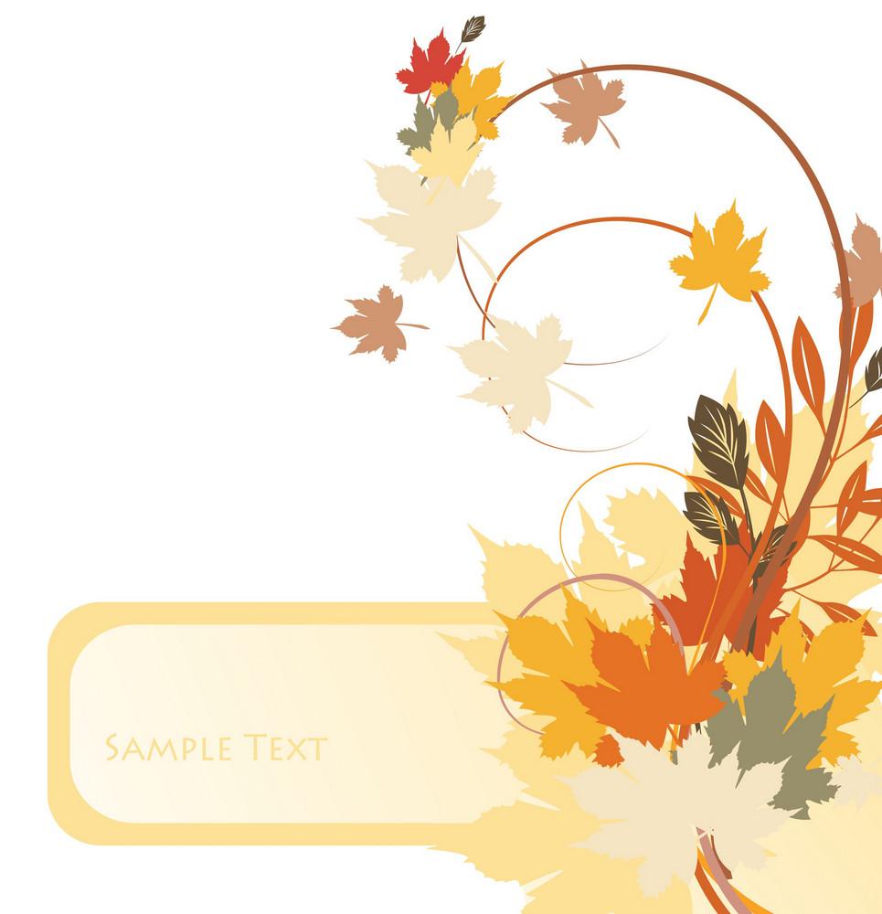 Autumn Floral Frame