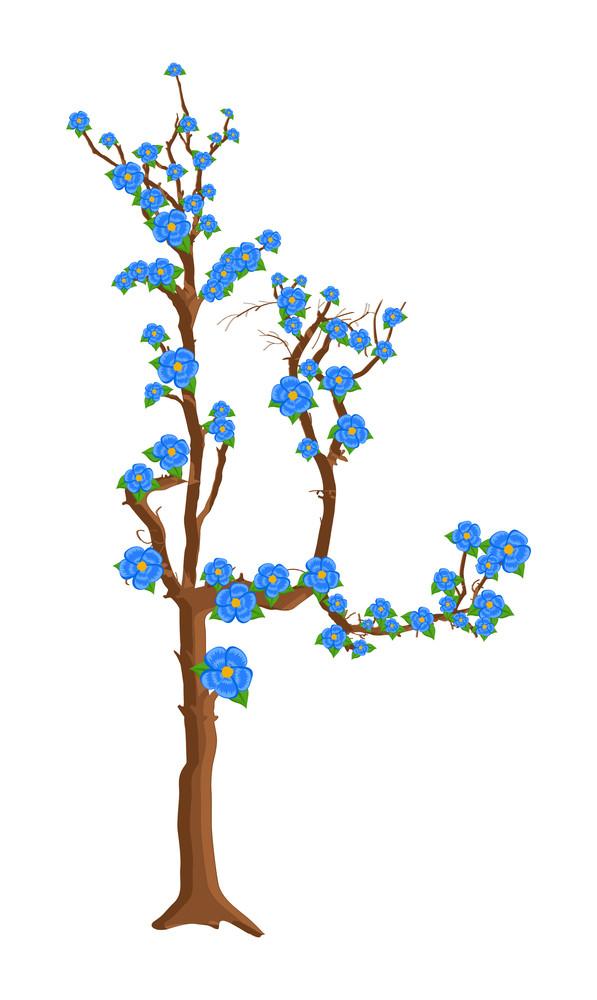 Autumn Flowers Tree