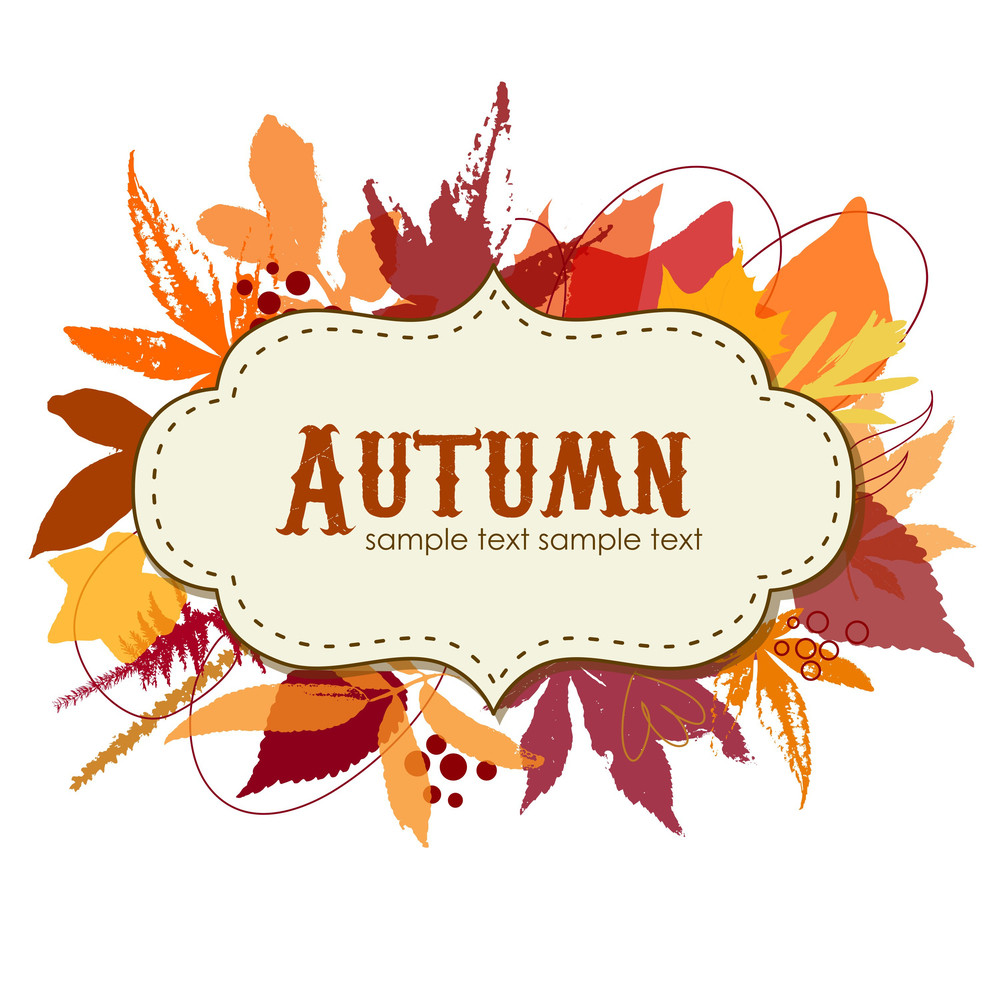 Autumn Leaves Background With A Frame