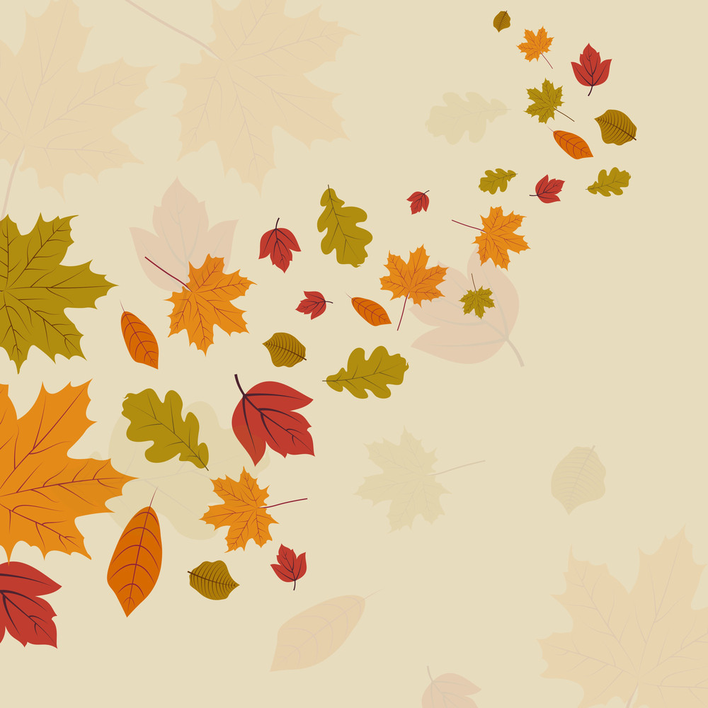 Autumn Leaves On Seamless Background