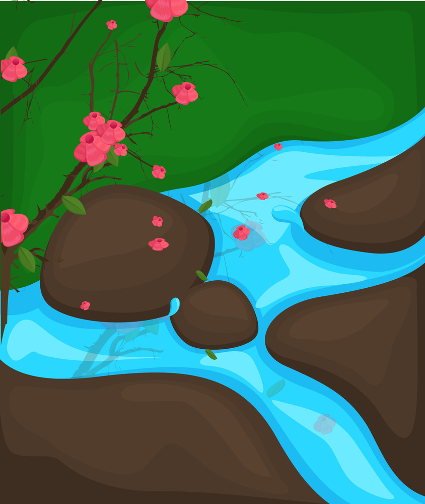 Autumn River Drawing