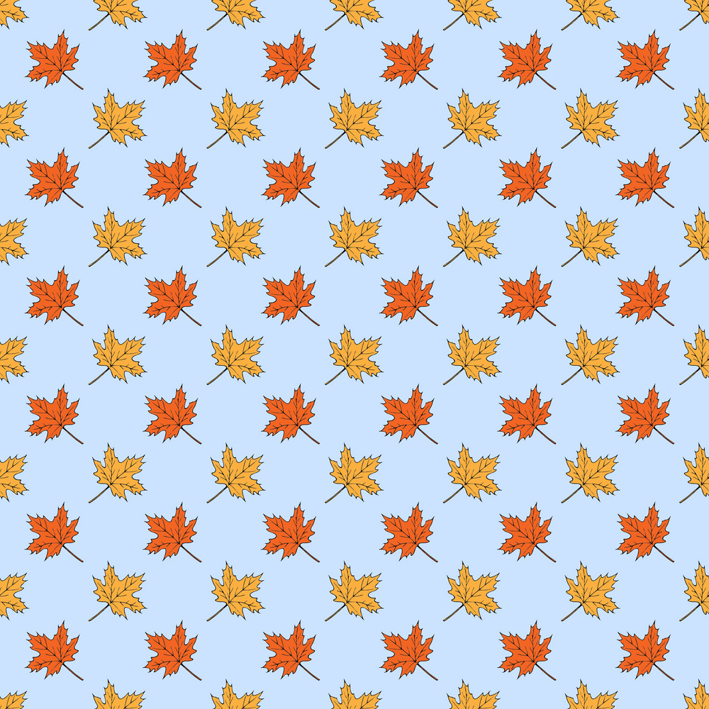 Design Pattern Of Maple Leaves On An Autumn Background