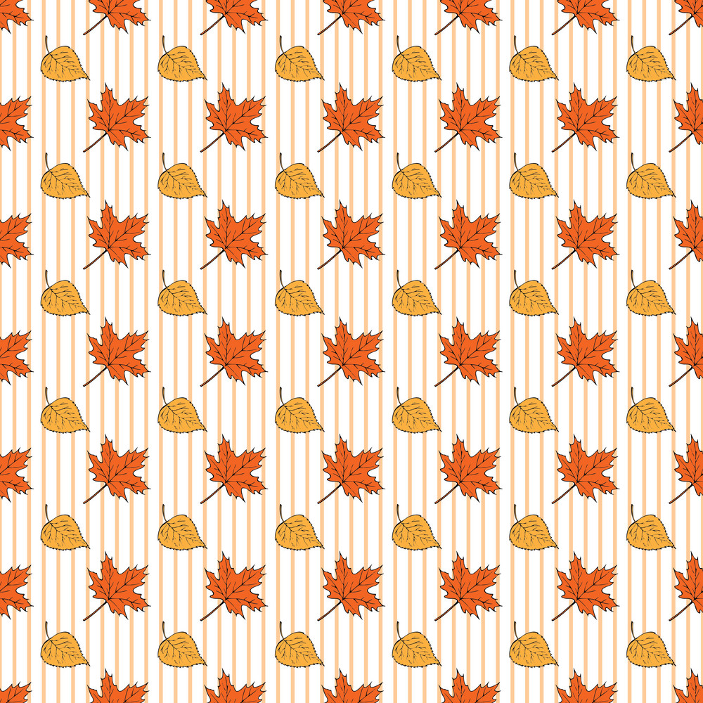Design Pattern Of Leaves On An Autumn Background