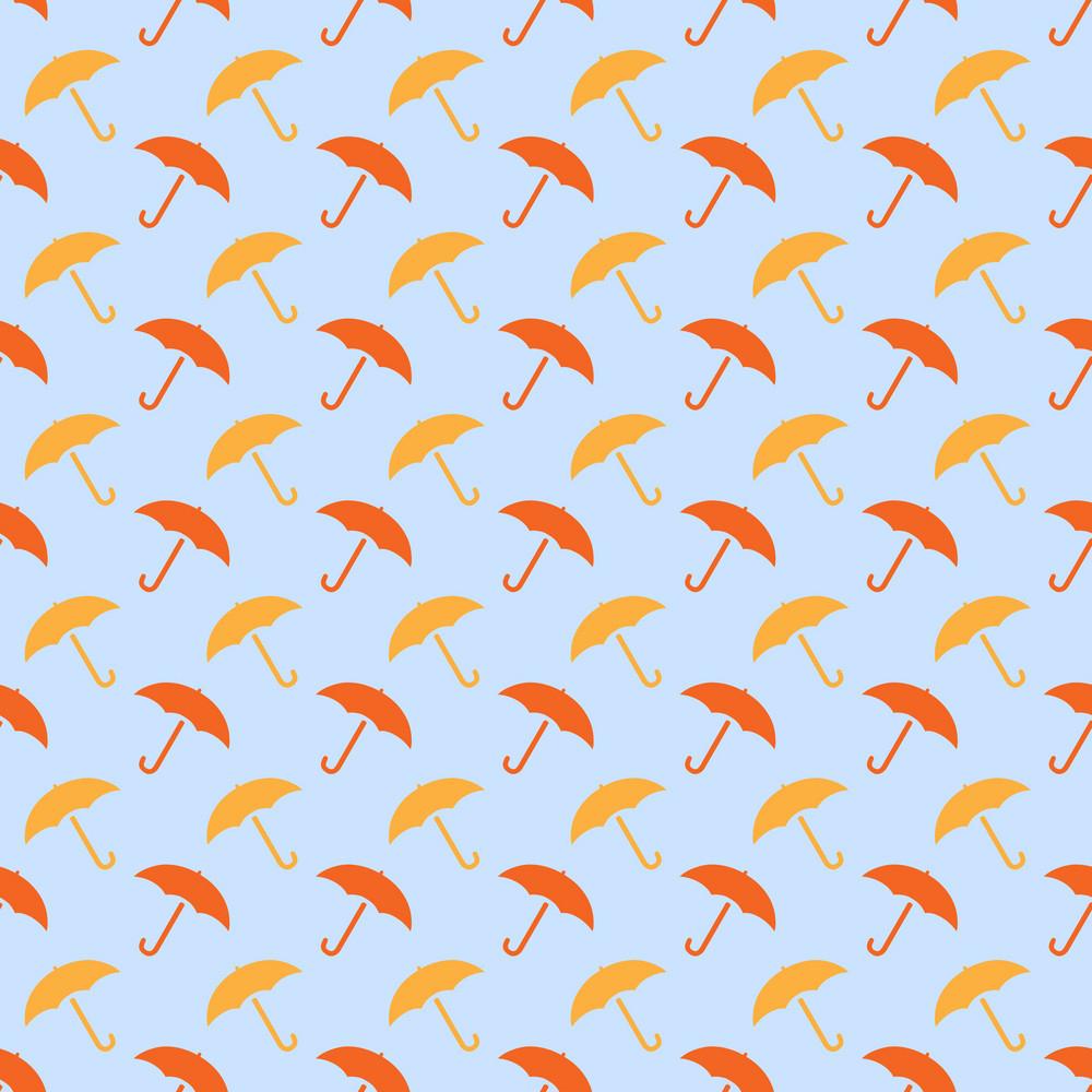 Design Pattern Of Umbrellas On An Autumn Background