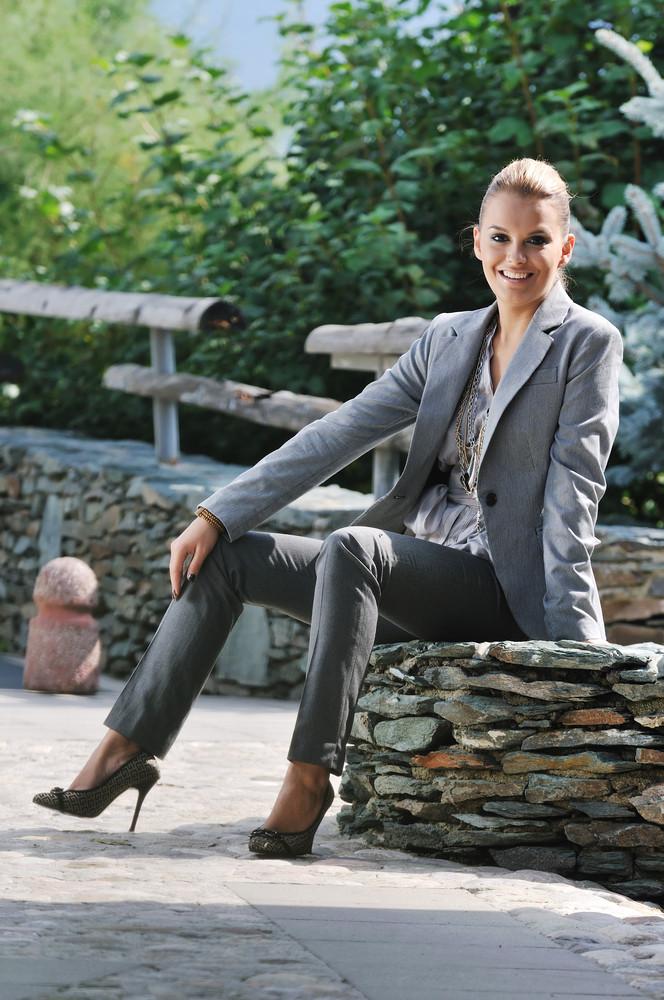 Happy woman fashion outdoor
