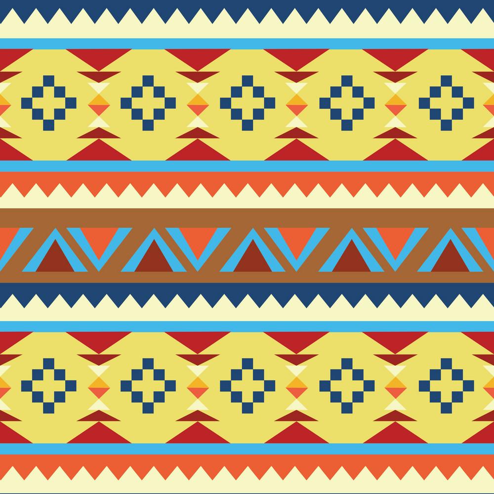 Aztec Pattern Vector Element