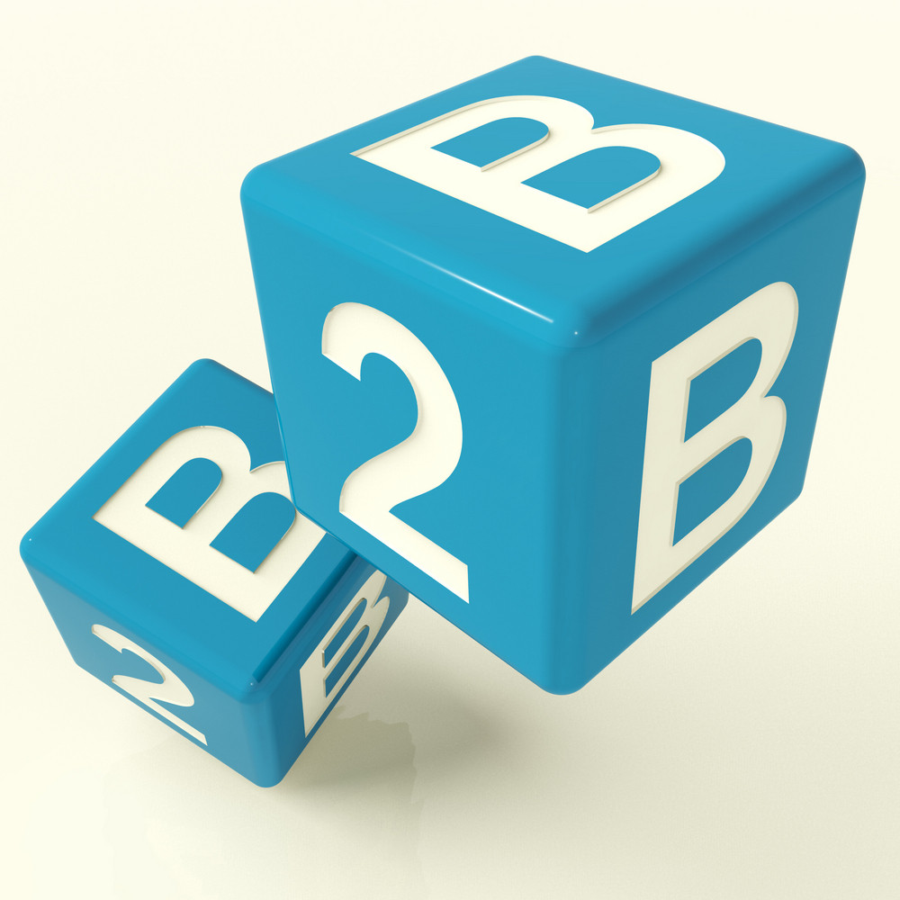 B2b Dice As A Sign Of Business And Commerce