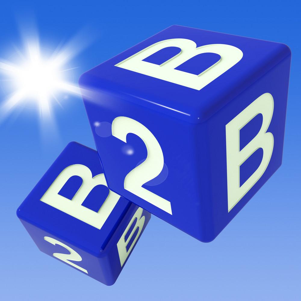 B2b Dice Flying Shows Marketing