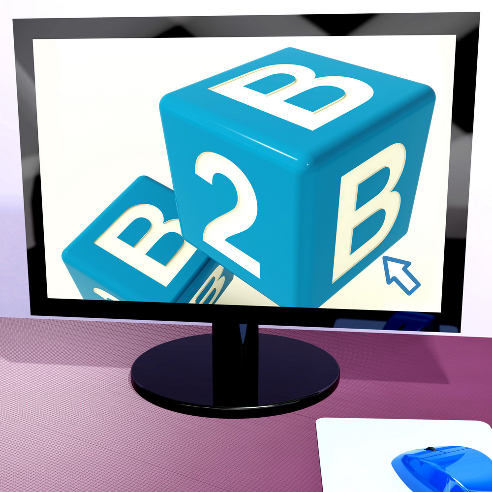 B2b Dice On Computer Shows Business And Commerce