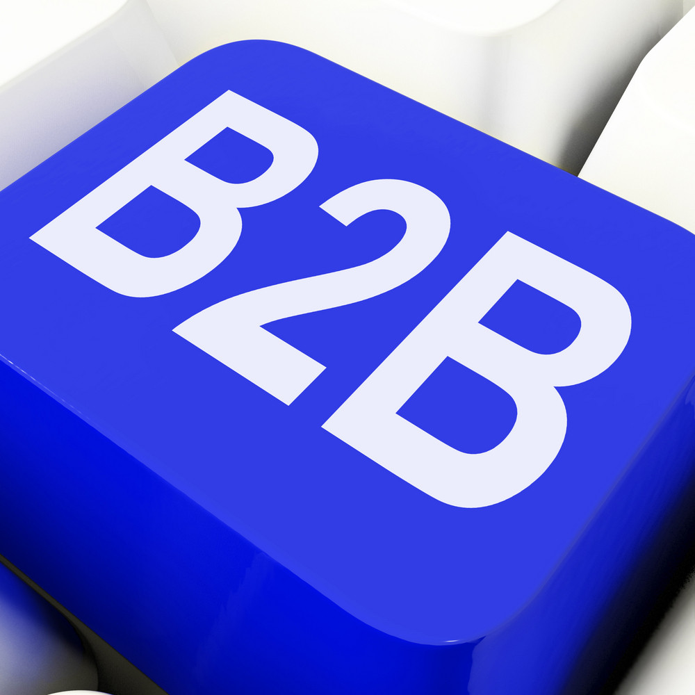 B2b Key Means Business Trade Or Commerce