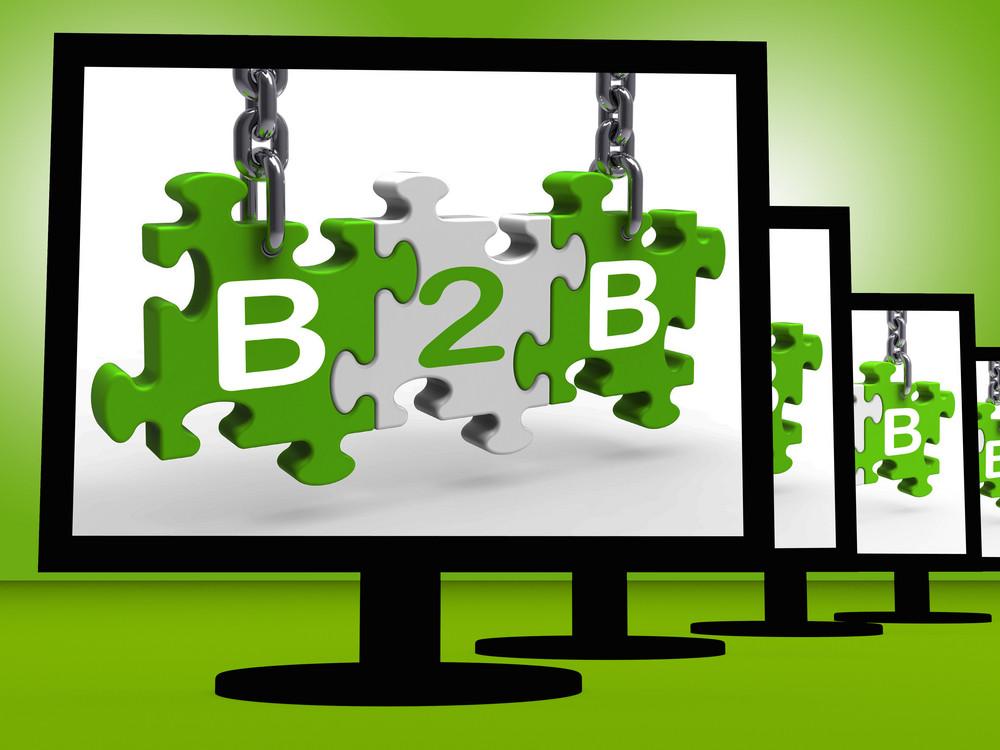 B2b On Monitors Showing Ecommerce