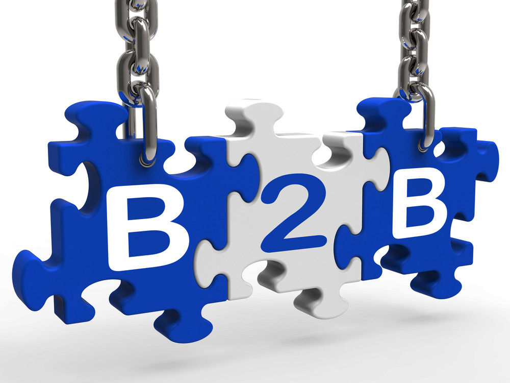 B2b Shows Sign Of Business And Commerce