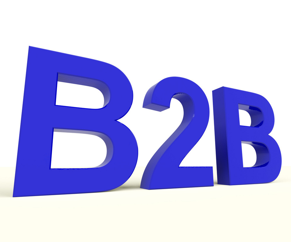 B2b Word As A Sign Of Business And Commerce