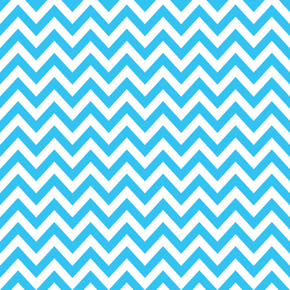 Baby Birthday Pattern Of Blue Chevrons