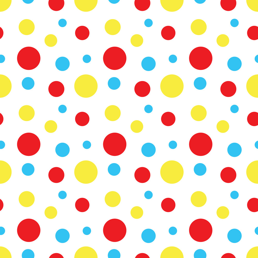 Baby Birthday Pattern Of Colourful Circles