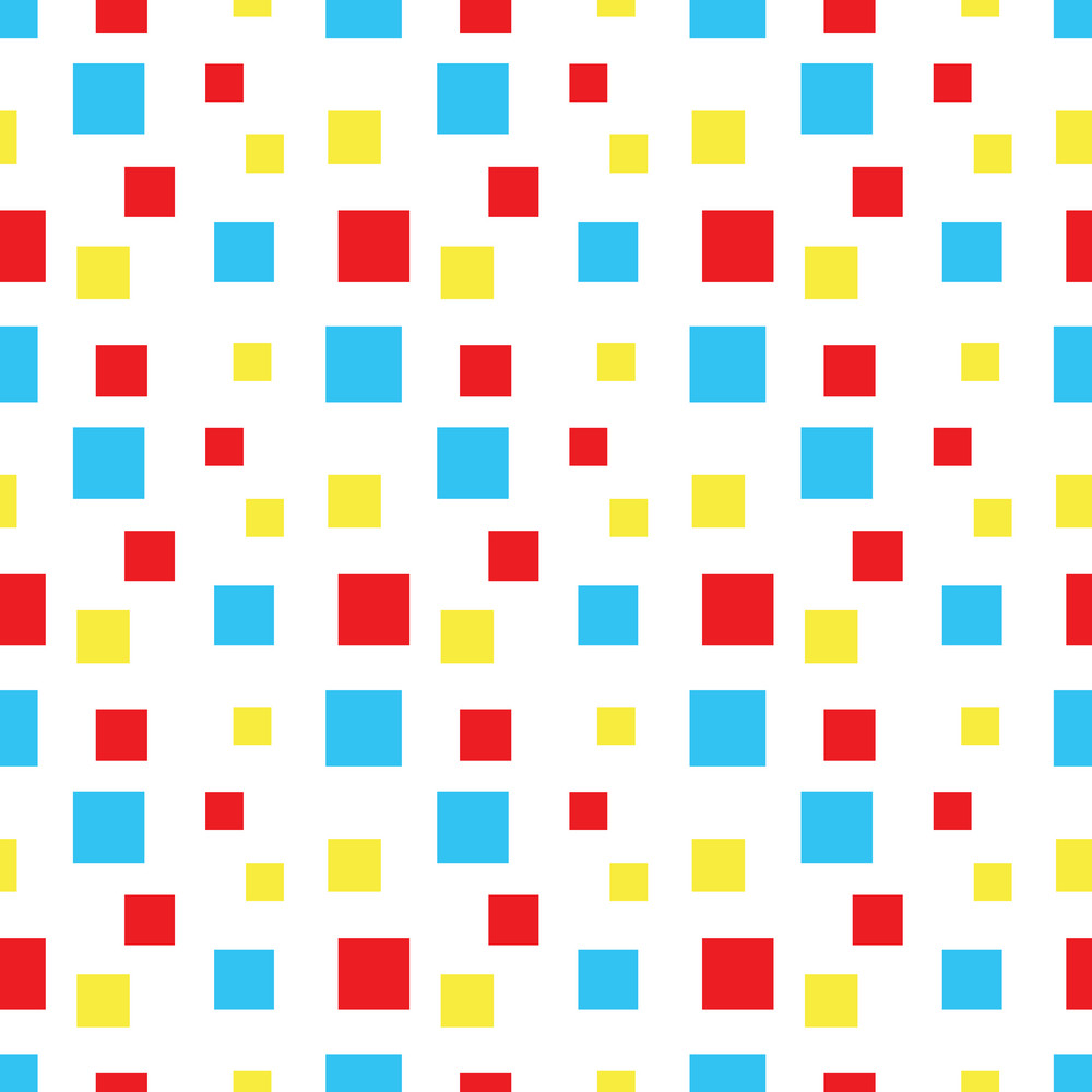 Baby Birthday Pattern Of Colourful Squares