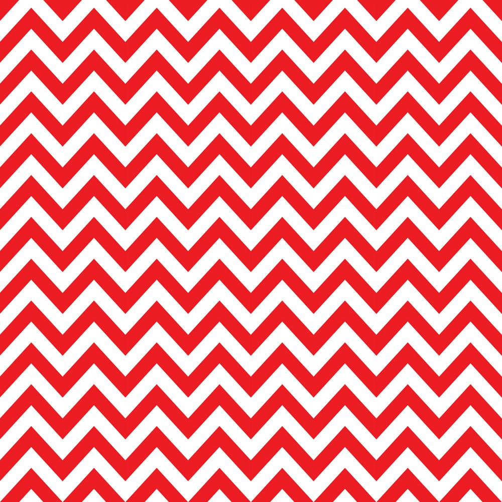 Baby Birthday Pattern Of Red Chevrons