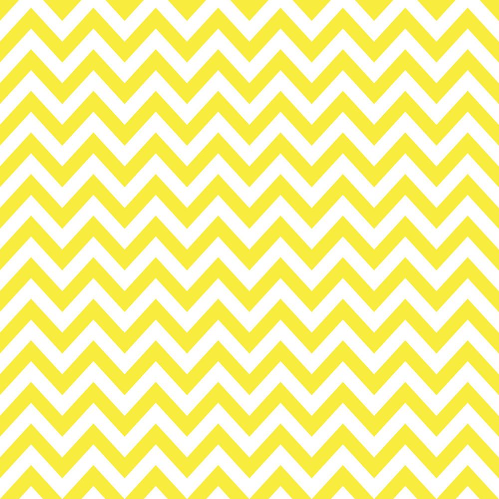 Baby Birthday Pattern Of Yellow Chevrons