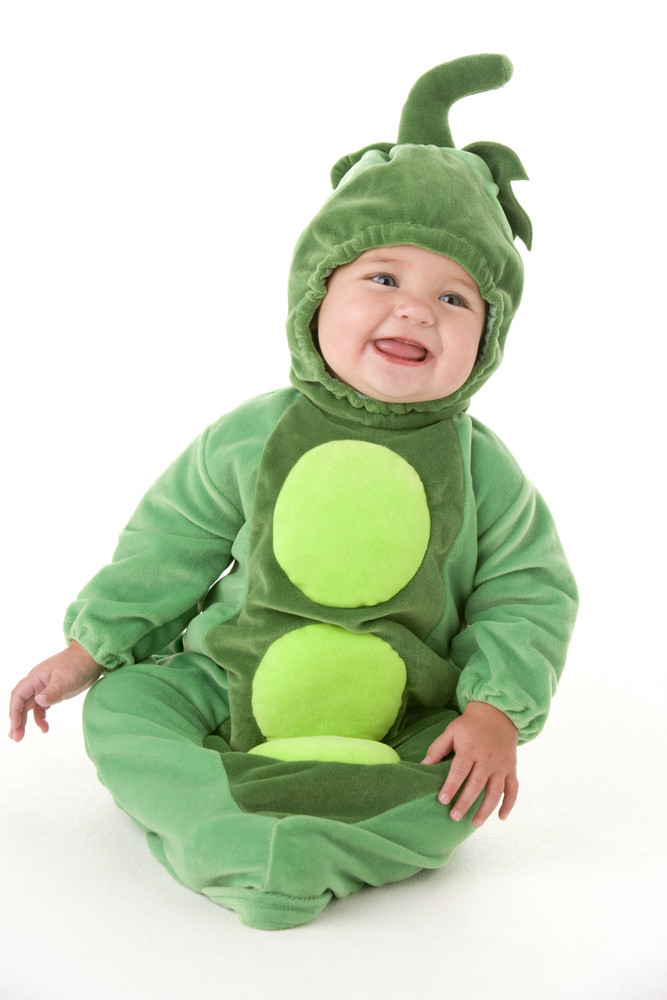 70f75cdf5393a Baby in peas in pod costume smiling Royalty-Free Stock Image ...