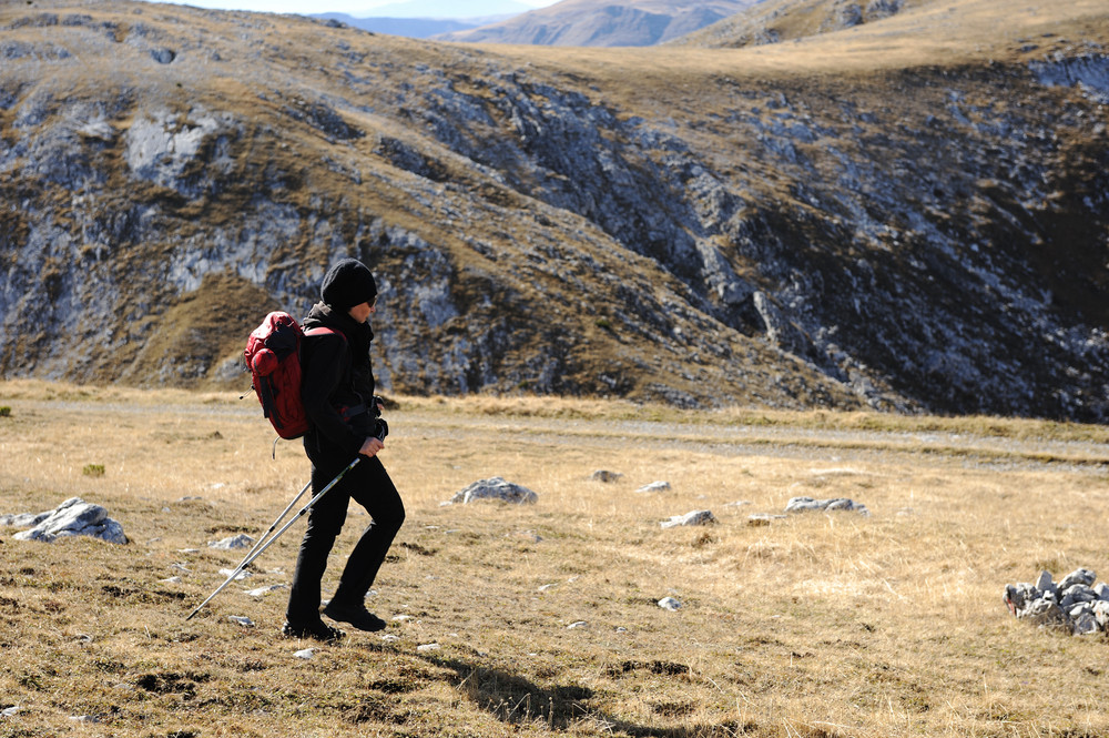 Back pack, walking, hiking in the nature