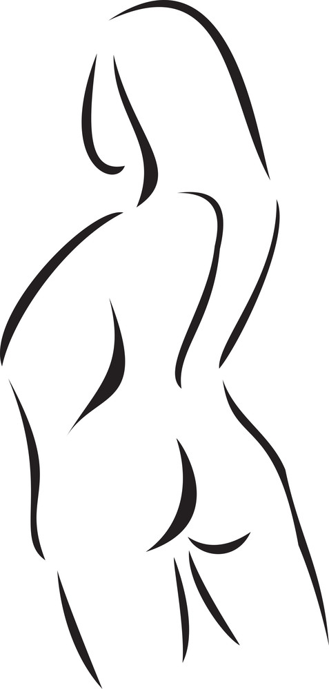 Back Pose Of A Woman.