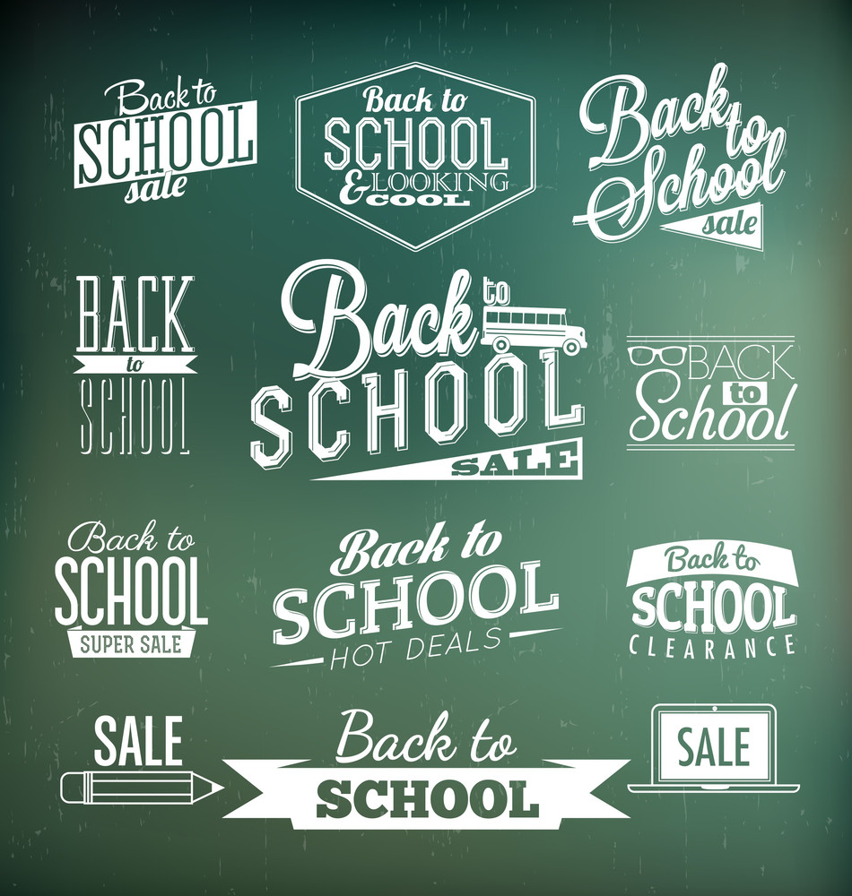 Back To School Calligraphic Designs | Retro Style Elements | Vintage Ornaments | Sale