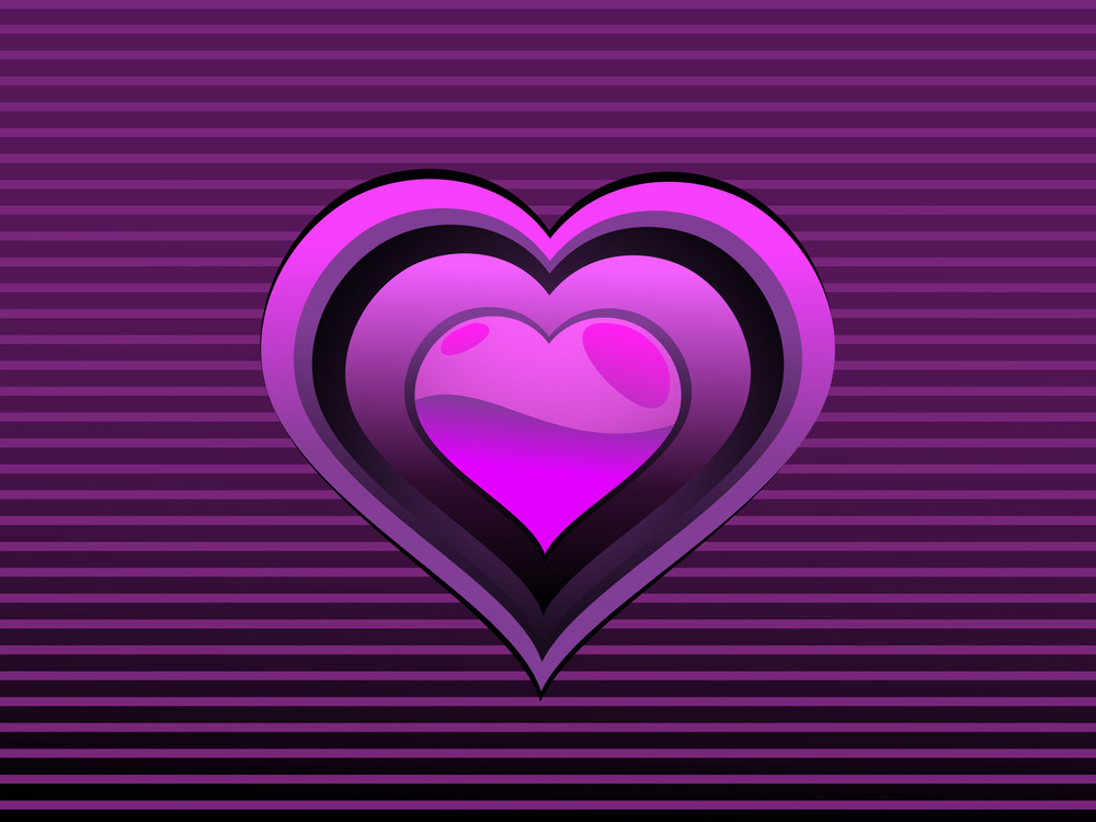 Backgorund With Isolated Purple Heart