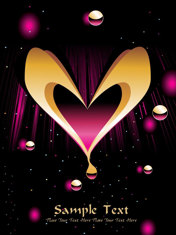 Backgorund With Romantic Heart