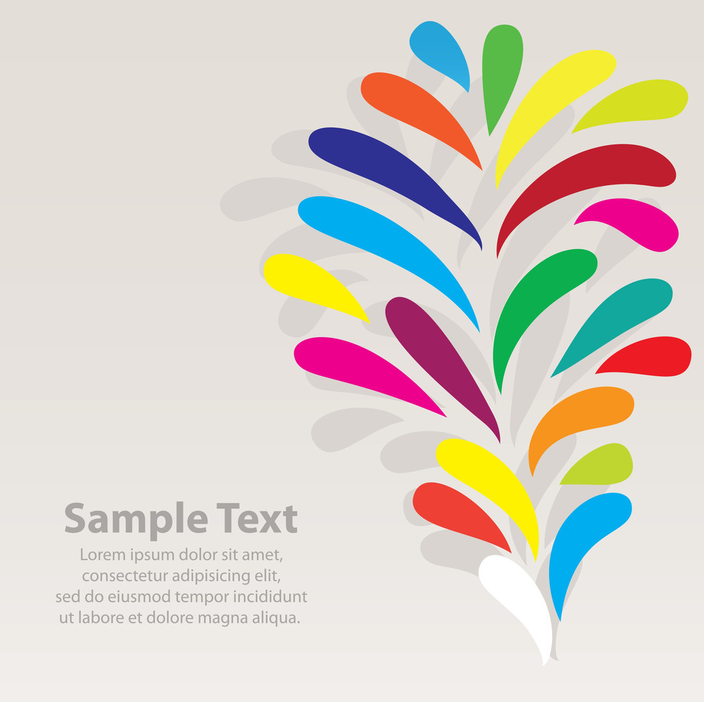 Background Concept With Colorful Design Elements