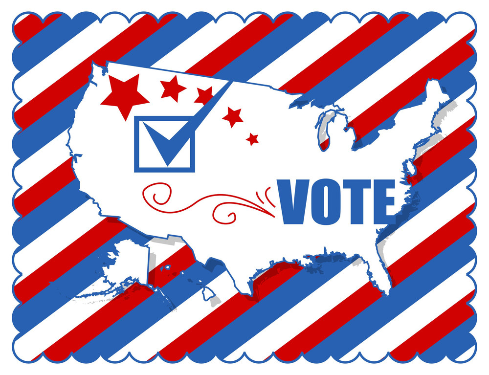 Background Election Day Vector Illustration