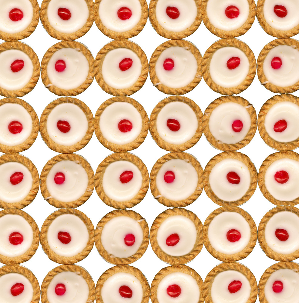 Background Made Of Many Bakewell Tarts