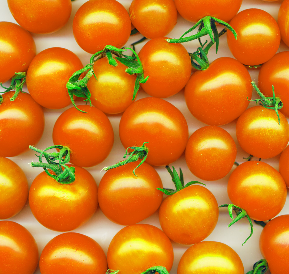 Background Made Of Yellow Tomatoes