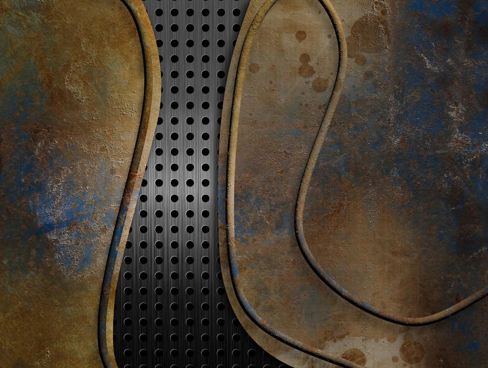 Background Metal With Metal Grid
