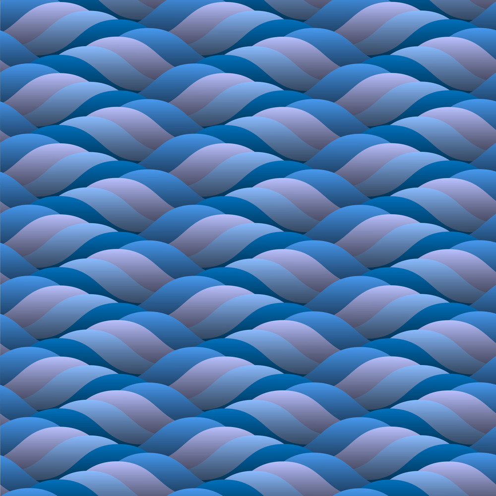 Background Of Curled Blue Waves